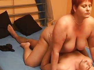 fat inexperienced housewife licks and bangs with