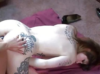 tattooed indigo shares a dong with a naughty