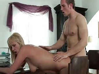 naughty pale cougar obtains neighbours huge libido
