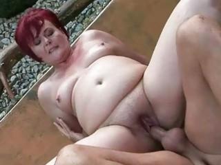 chubby grandma acquires her vagina gangbanged al