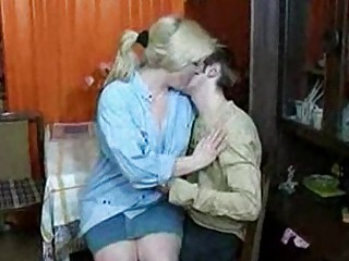 russian lady and man having a drink