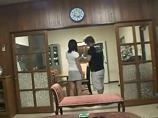 naughty lady cheating gangbanged during  man into
