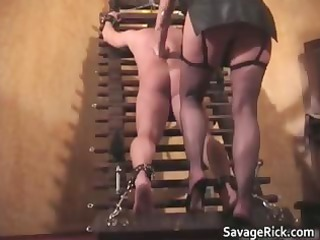 hot brown leather blond lady angel acquires part3