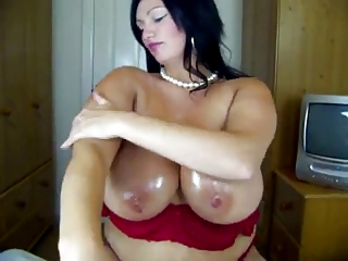 heavy cougar with large boobs  into lingerie licks