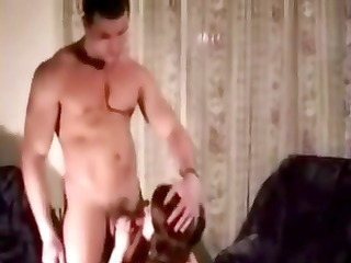 muscular russian husband makes love to her wife