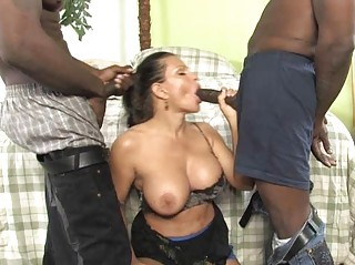 naughty lady obtains ravaged by two libidos