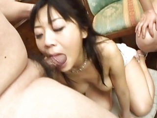 japanese woman gagged by two plump bellied dicks