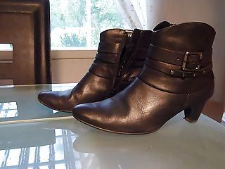sperm inside wifes dark ankle boot