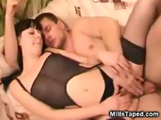 busty lady licking and mechanism fucking