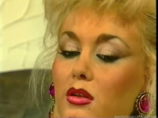 dolly buster - german lady banged by two men