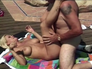 large breast sexy blond sweetie welcomes grandpas