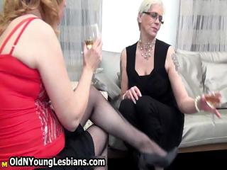 two stunning older  wives adore pleasing part6