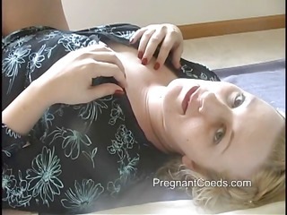 plump albino lady has lactating tits and is