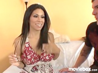 latin housewife cheats on man with young stud