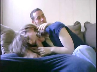 aunts friend give me a fellatio with milf inside