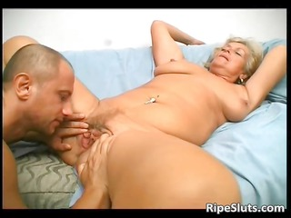 overrupe grownup blond slut obtains her granny
