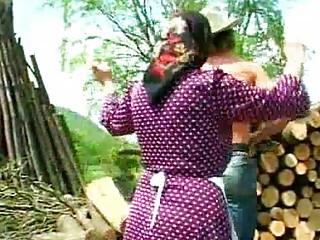 filthy elderly banged lumberjack