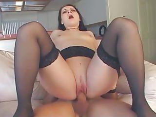 gstring lady enjoys anal