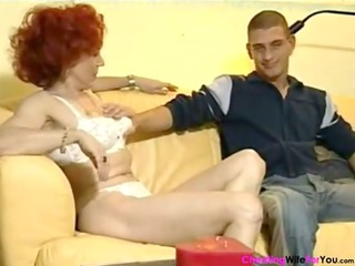german red-haired older housewife
