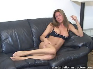 masturbation instructor is smoking when playing
