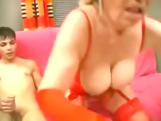elderly inside green pantyhose strapons the lad