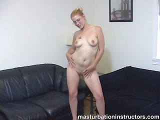 bare naked masturbation teacher gets busy at job